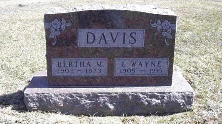 DAVIS, BERTHA - Marion County, Iowa | BERTHA DAVIS