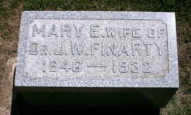 FINARTY, MARY E - Marion County, Iowa | MARY E FINARTY