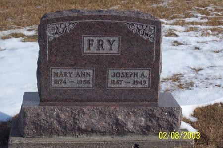 MCMORRAN FRY, MARY - Marion County, Iowa | MARY MCMORRAN FRY