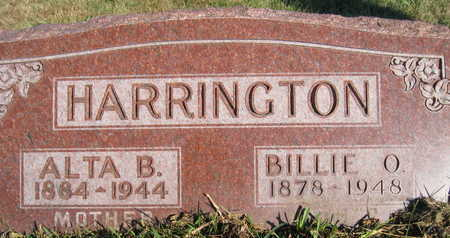 HARRINGTON, BILLIE O - Marion County, Iowa | BILLIE O HARRINGTON