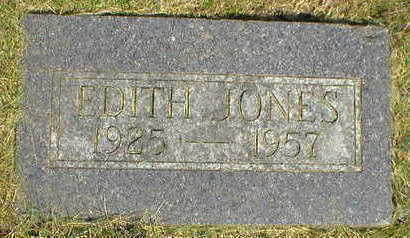 JONES, EDITH - Marion County, Iowa | EDITH JONES