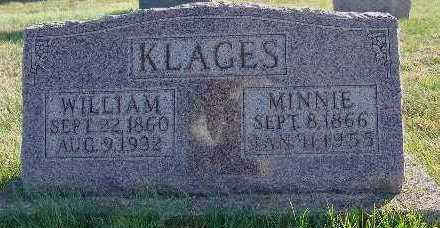 KLAGES, MINNIE - Marion County, Iowa | MINNIE KLAGES