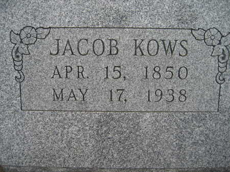 KOWS, JACOB - Marion County, Iowa | JACOB KOWS