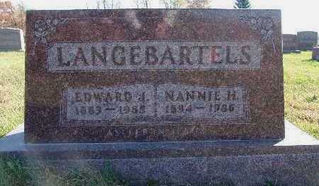 LANGEBARTELS, NANNIE H. - Marion County, Iowa | NANNIE H. LANGEBARTELS