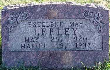 LEPLEY, ESTELENE MAY - Marion County, Iowa | ESTELENE MAY LEPLEY