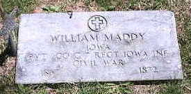 MADDY, WILLIAM - Marion County, Iowa | WILLIAM MADDY