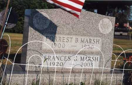 MARSH, FRANCES G. - Marion County, Iowa | FRANCES G. MARSH