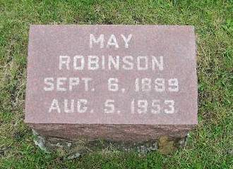ROBINSON, MAY - Marion County, Iowa | MAY ROBINSON