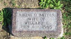BATTEN, NAOME DELORES MEANS - Marion County, Iowa | NAOME DELORES MEANS BATTEN