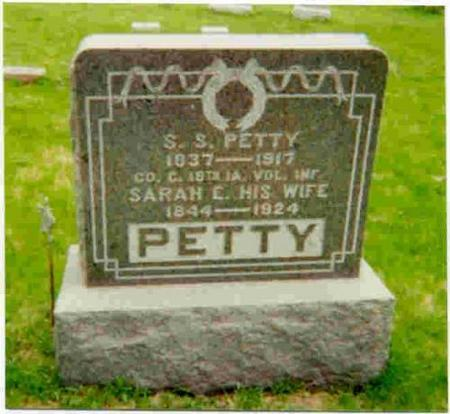 PETTY, SAMUEL SHELL - Marion County, Iowa | SAMUEL SHELL PETTY