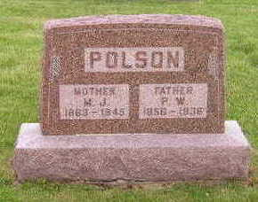 HILLABOLT POLSON, MARY JANE - Marion County, Iowa | MARY JANE HILLABOLT POLSON