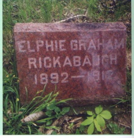 GRAHAM RICKABAUGH, ELPHIE - Marion County, Iowa | ELPHIE GRAHAM RICKABAUGH