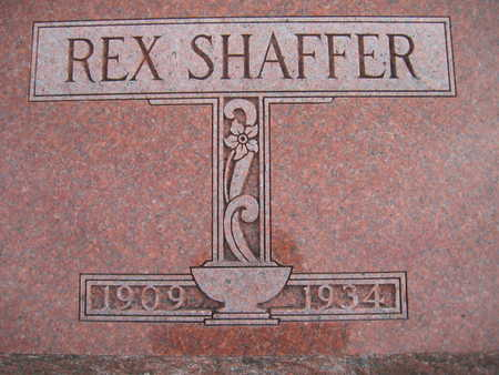 SHAFFER, REX - Marion County, Iowa | REX SHAFFER