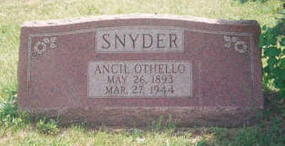 SNYDER, ANCIL OTHELLO - Marion County, Iowa | ANCIL OTHELLO SNYDER
