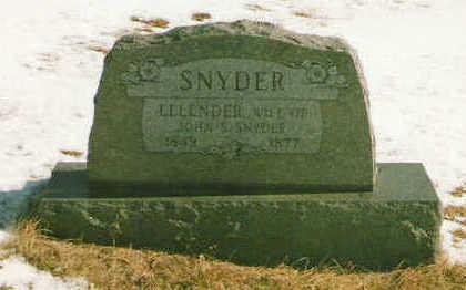 SNYDER, ELLENDER - Marion County, Iowa | ELLENDER SNYDER