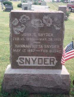 YORK SNYDER, HANNAH RITA - Marion County, Iowa | HANNAH RITA YORK SNYDER