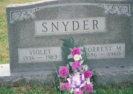 SNYDER, FORREST M - Marion County, Iowa | FORREST M SNYDER