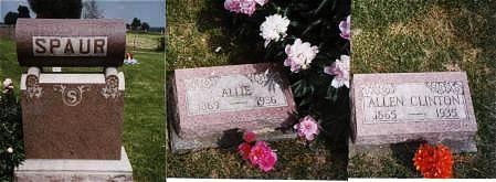 SPAUR, ALLEN CLINTON AND ALLIE PACK - Marion County, Iowa | ALLEN CLINTON AND ALLIE PACK SPAUR