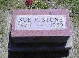 SUE M, STONE - Marion County, Iowa | STONE SUE M