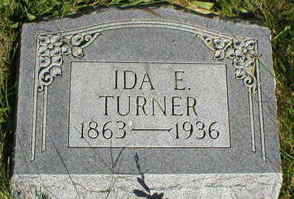 TURNER, IDA E, - Marion County, Iowa | IDA E, TURNER