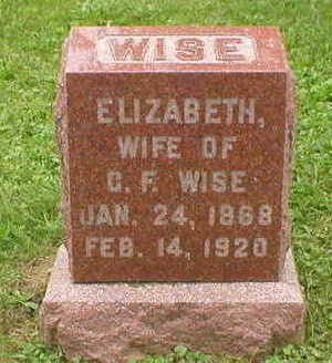 WISE, ELIZABETH - Marion County, Iowa | ELIZABETH WISE