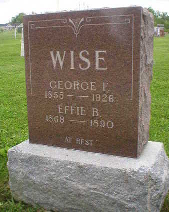WISE, GEORGE F. - Marion County, Iowa | GEORGE F. WISE
