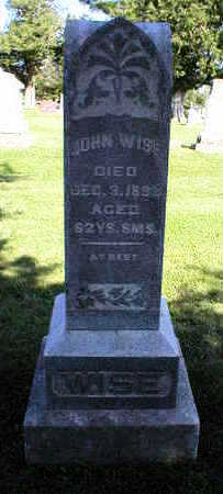 WISE, JOHN - Marion County, Iowa | JOHN WISE