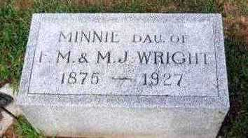 WRIGHT, MINNIE A. - Marion County, Iowa | MINNIE A. WRIGHT