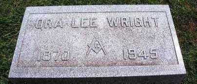 WRIGHT, ORA LEE - Marion County, Iowa   ORA LEE WRIGHT