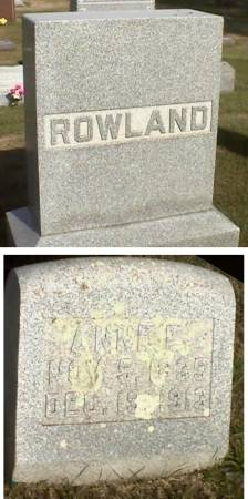 ROWLAND, ANNE F. - Marshall County, Iowa | ANNE F. ROWLAND