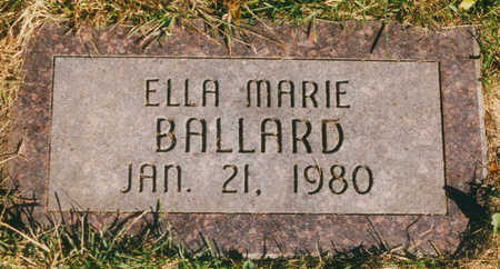 BALLARD, ELLA MARIE - Marshall County, Iowa | ELLA MARIE BALLARD