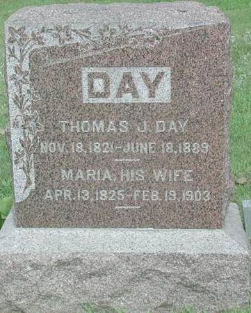 DAY, THOMAS J. & MARIA - Marshall County, Iowa | THOMAS J. & MARIA DAY