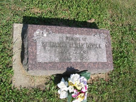 DEVICK, BENJAMIN ELMER - Marshall County, Iowa | BENJAMIN ELMER DEVICK