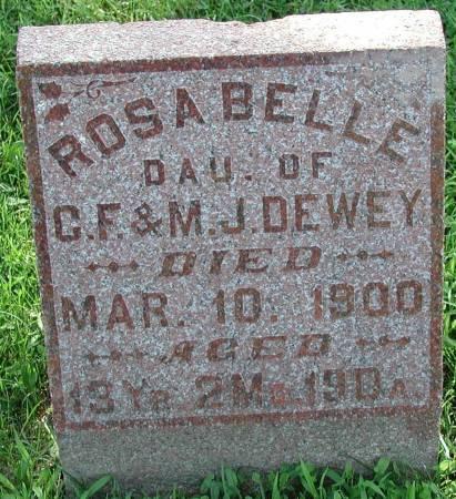 DEWEY, ROSA BELLE - Marshall County, Iowa | ROSA BELLE DEWEY
