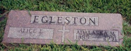 EGLESTON, ALICE - Marshall County, Iowa | ALICE EGLESTON