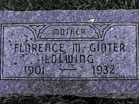 LOWLING, FLORENCE M. (GINTER) - Marshall County, Iowa | FLORENCE M. (GINTER) LOWLING