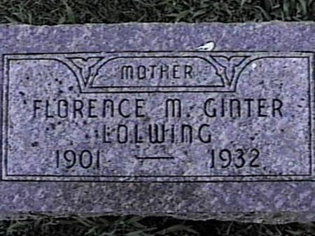 LOWLING, FLORENCE M. (GINTER) - Marshall County, Iowa | FLORENCE M. (GINTER) LOWLING