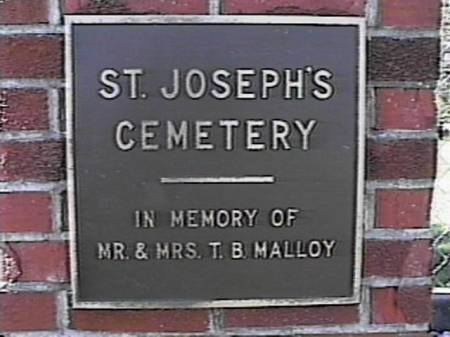 ST. JOSEPH'S CATHOLIC, CEMETERY - Marshall County, Iowa | CEMETERY ST. JOSEPH'S CATHOLIC