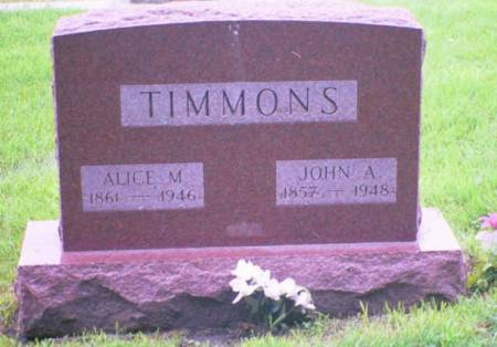TIMMONS, ALICE M. - Marshall County, Iowa | ALICE M. TIMMONS