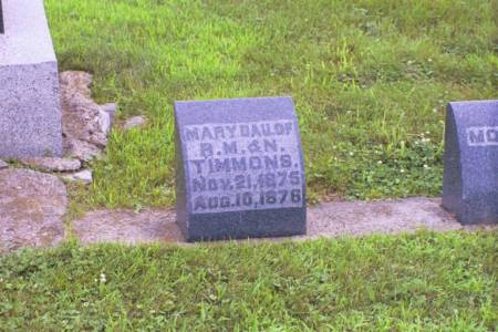 TIMMONS, MARY - Marshall County, Iowa | MARY TIMMONS