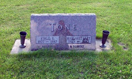 CARY TONE, MARGARET - Marshall County, Iowa | MARGARET CARY TONE