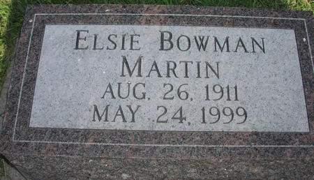 BOWMAN MARTIN, ELSIE - Mills County, Iowa | ELSIE BOWMAN MARTIN