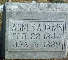 ADAMS, AGNES - Mills County, Iowa | AGNES ADAMS