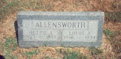 ALLENSWORTH, HETTIE ANN - Mills County, Iowa | HETTIE ANN ALLENSWORTH