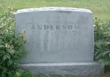 ANDERSON, HEADSTONE - Mills County, Iowa | HEADSTONE ANDERSON
