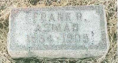 ASMAN, FRANK RHODE - Mills County, Iowa | FRANK RHODE ASMAN
