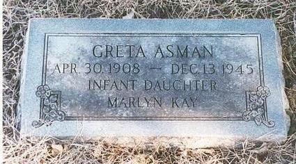 ASMAN, GRETA - Mills County, Iowa | GRETA ASMAN