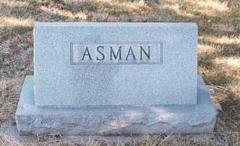ASMAN, HEADSTONE - Mills County, Iowa | HEADSTONE ASMAN