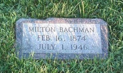 BACHMAN, MILTON - Mills County, Iowa | MILTON BACHMAN