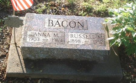 BACON, ANNA M. - Mills County, Iowa | ANNA M. BACON